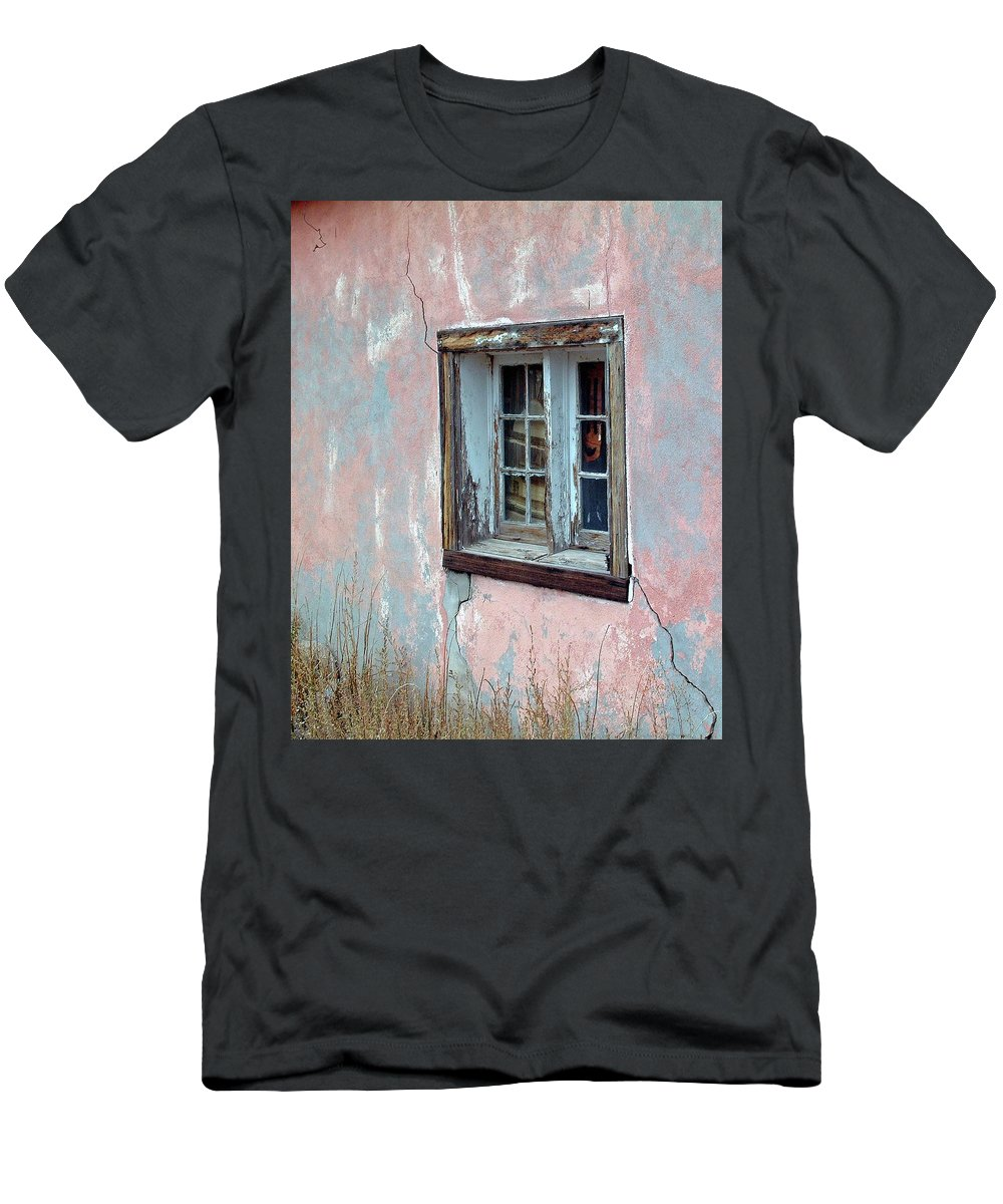 Window Men's T-Shirt (Athletic Fit) featuring the photograph Old Window by George Elliott