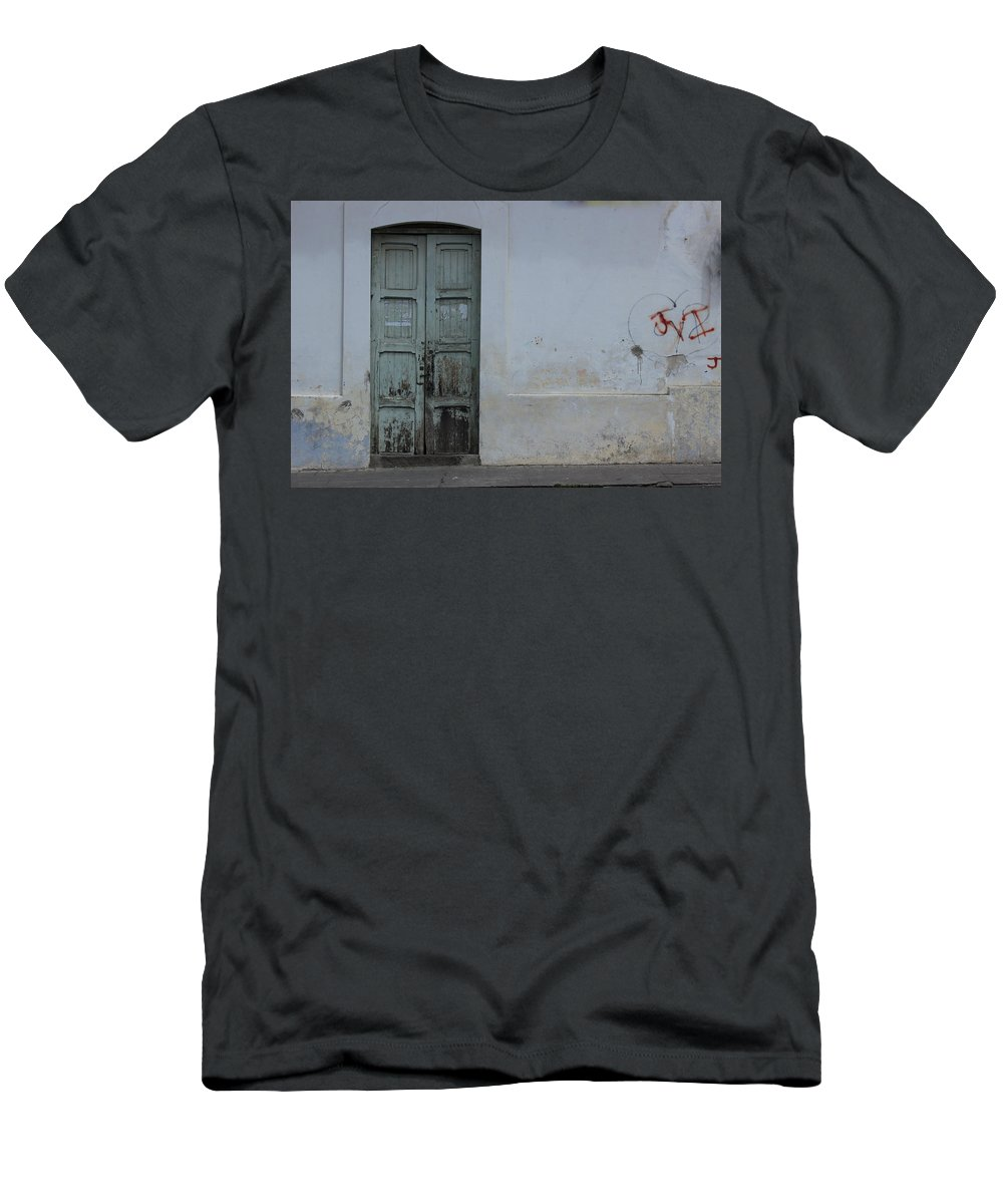 House Men's T-Shirt (Athletic Fit) featuring the photograph Old Wooden Door by Robert Hamm