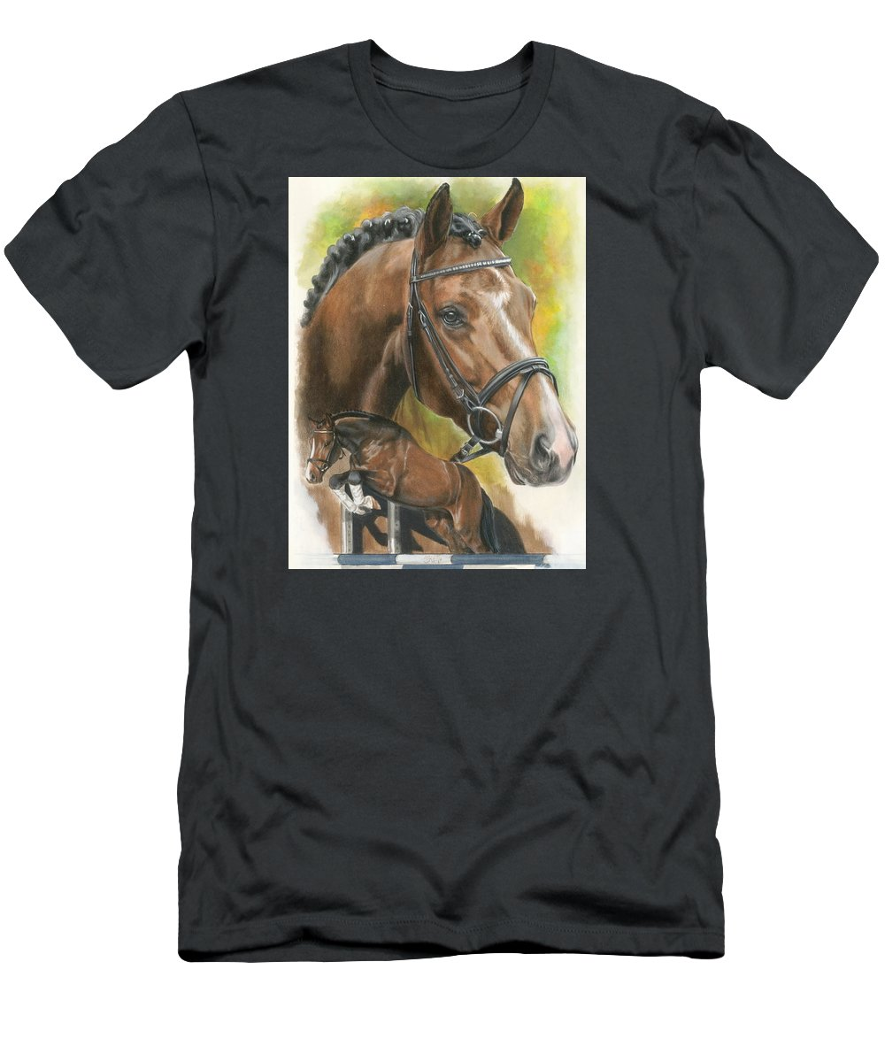 Hunter Jumper T-Shirt featuring the mixed media Oldenberg by Barbara Keith