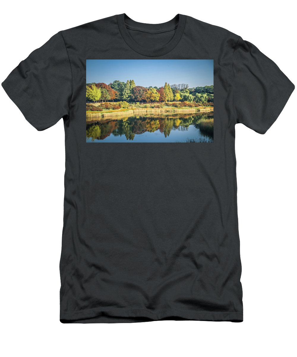 Seoul Men's T-Shirt (Athletic Fit) featuring the photograph Olympic Park In Seoul by Hyuntae Kim