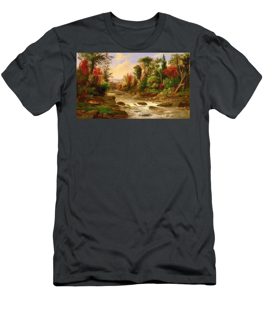 Painting Men's T-Shirt (Athletic Fit) featuring the painting On St Annes East Canada by Mountain Dreams