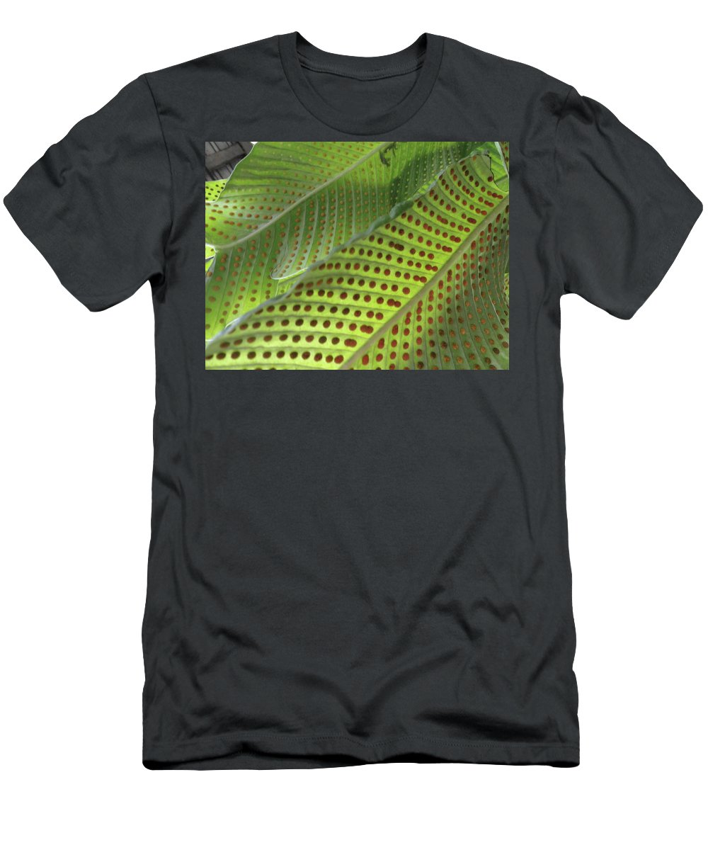 Tropical Plants Men's T-Shirt (Athletic Fit) featuring the photograph On The Dotted Lines by Trish Hale