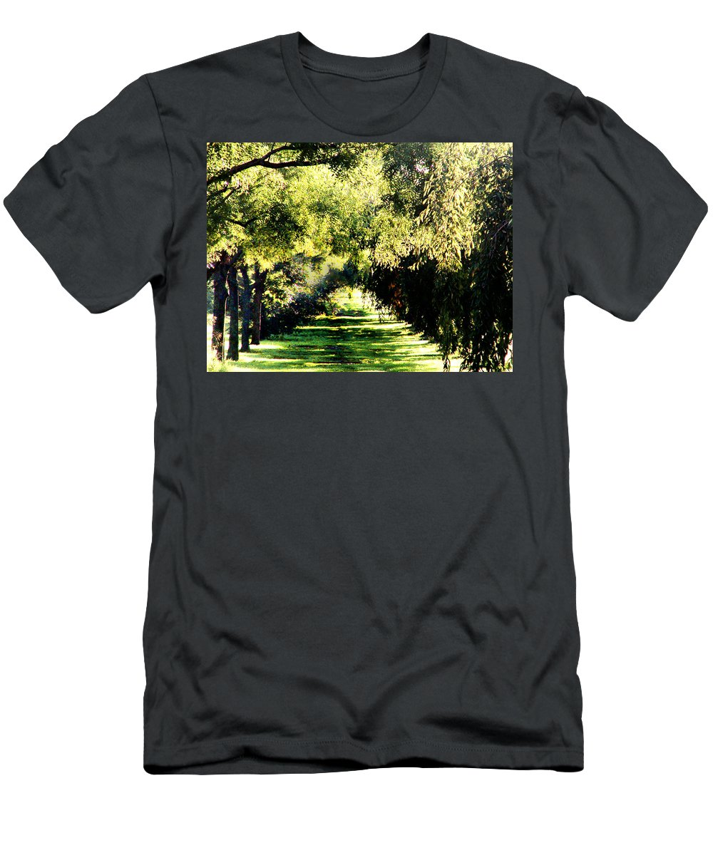 Philadelphia T-Shirt featuring the photograph On the Path by Bill Cannon