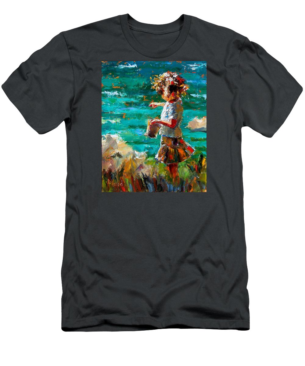 Children T-Shirt featuring the painting One At A Time by Debra Hurd