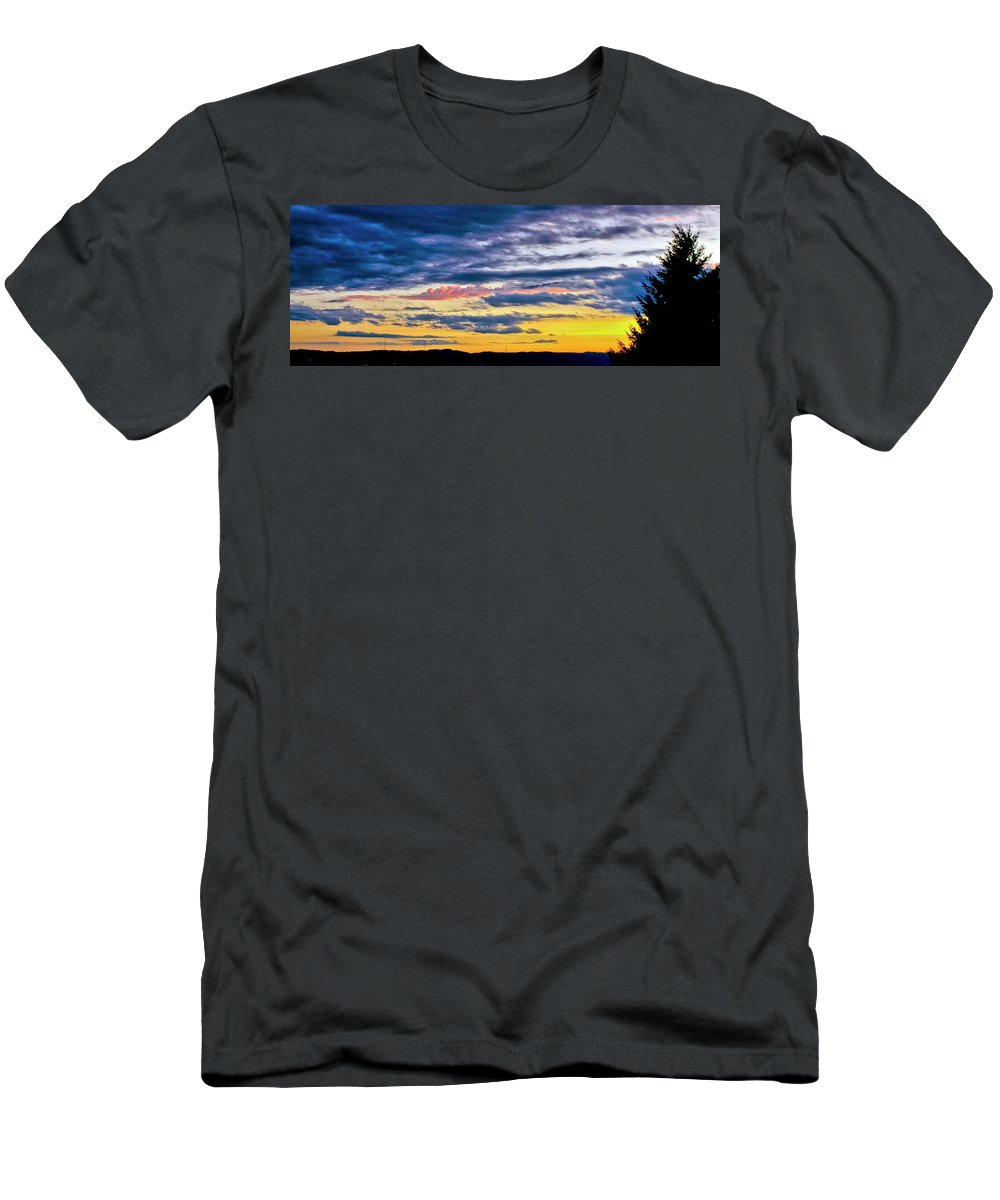 Colorful Men's T-Shirt (Athletic Fit) featuring the photograph One Last Flash by Albert Seger