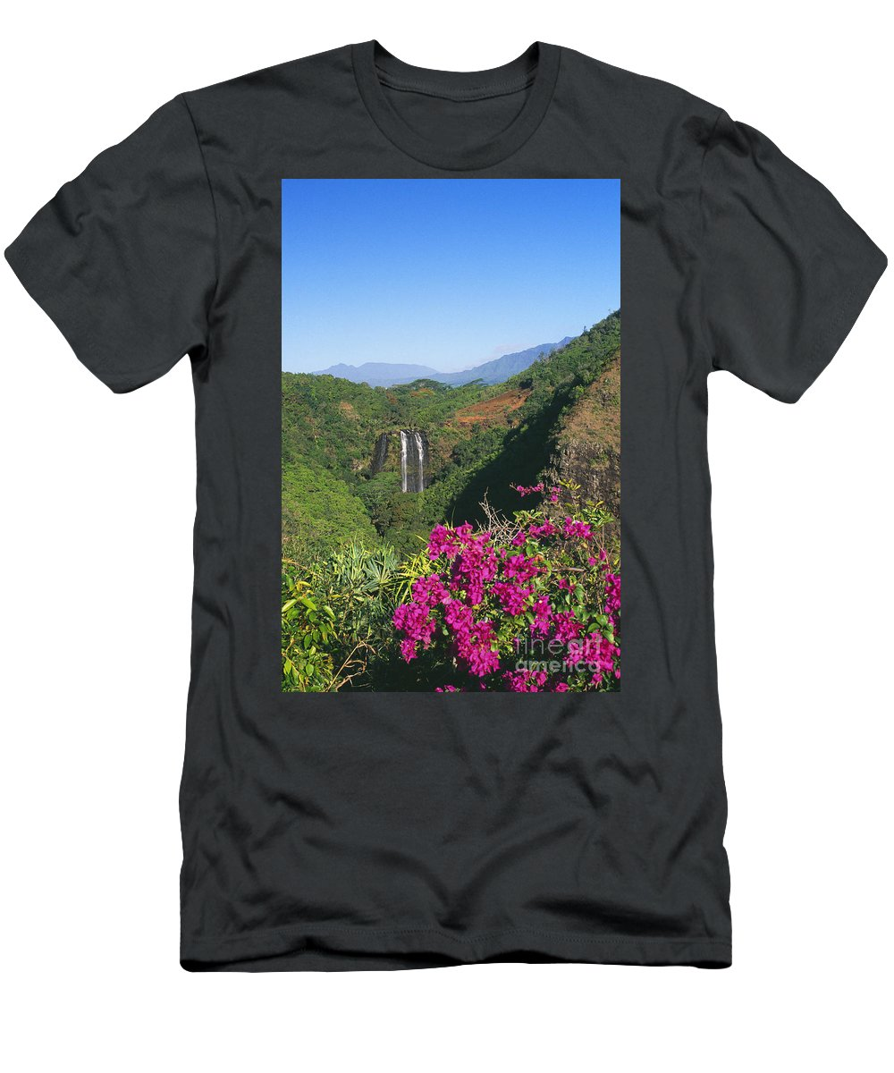 Beautiful Men's T-Shirt (Athletic Fit) featuring the photograph Opaekaa Falls by William Waterfall - Printscapes