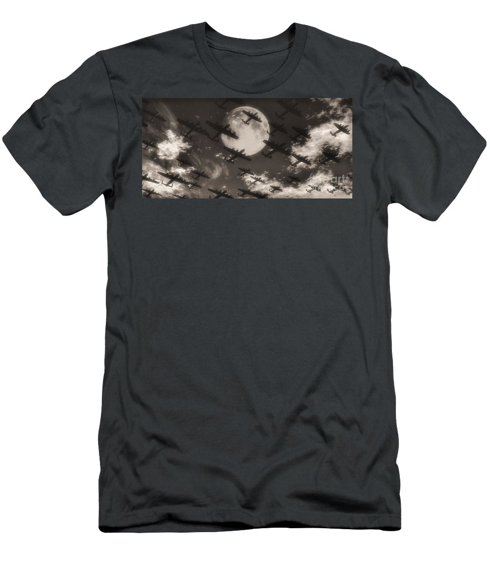 Aviaton Men's T-Shirt (Athletic Fit) featuring the digital art Operation Moonlight by Richard Rizzo