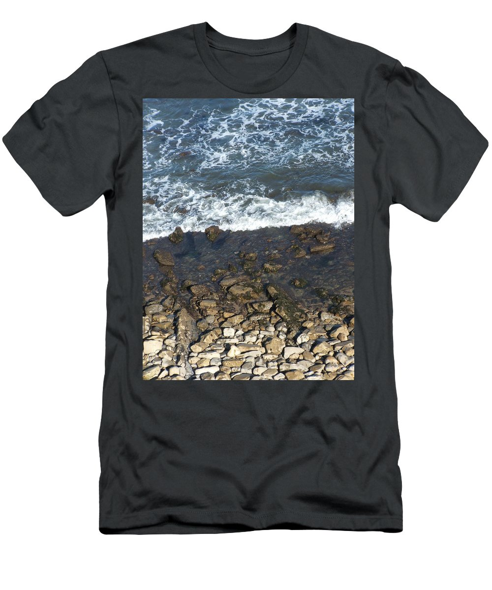 Ocean Men's T-Shirt (Athletic Fit) featuring the photograph Opponents by Shari Chavira
