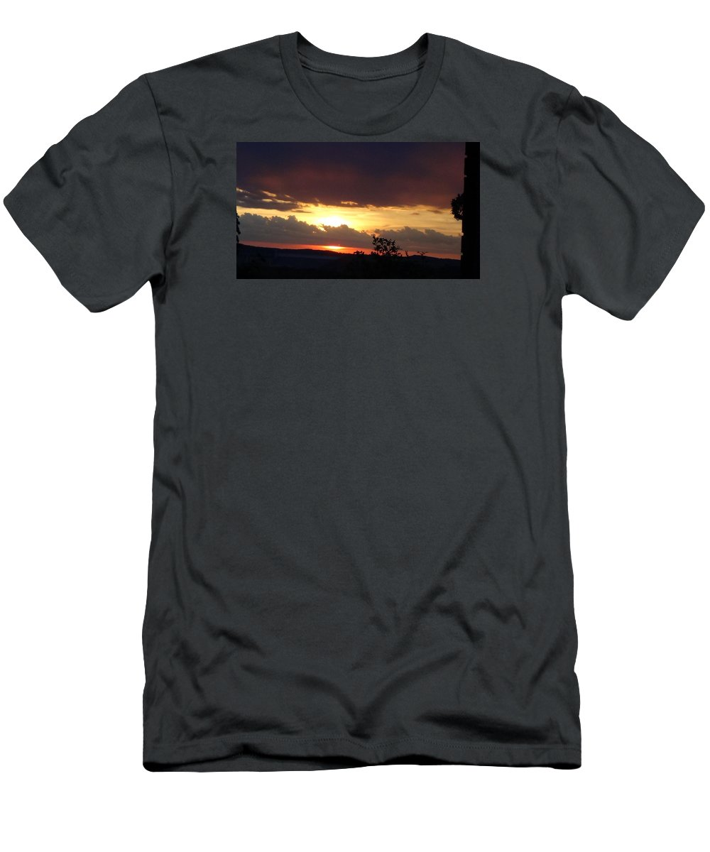 Sunset T-Shirt featuring the photograph Orange September Sunset by Toni Berry