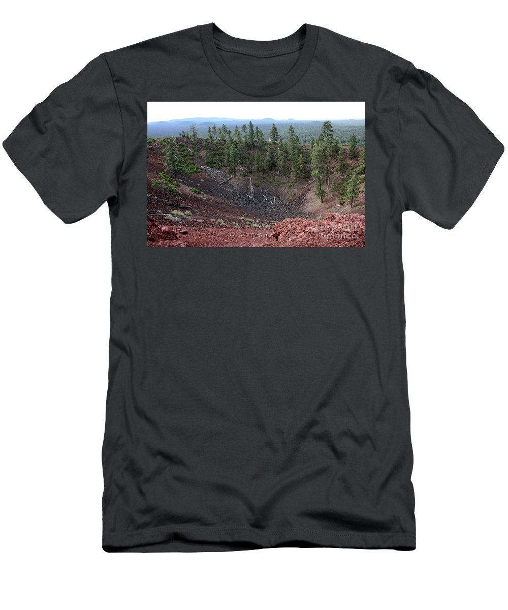 Oregon Men's T-Shirt (Athletic Fit) featuring the photograph Oregon Landscape - Crater At Lava Butte by Carol Groenen