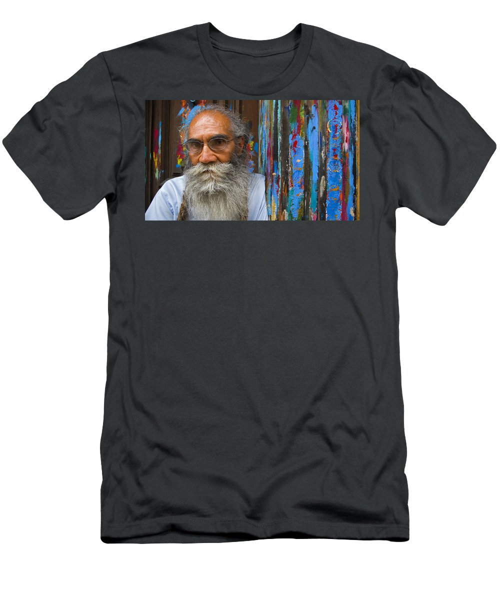 Architecture Men's T-Shirt (Athletic Fit) featuring the photograph Orizaba Painter by Skip Hunt