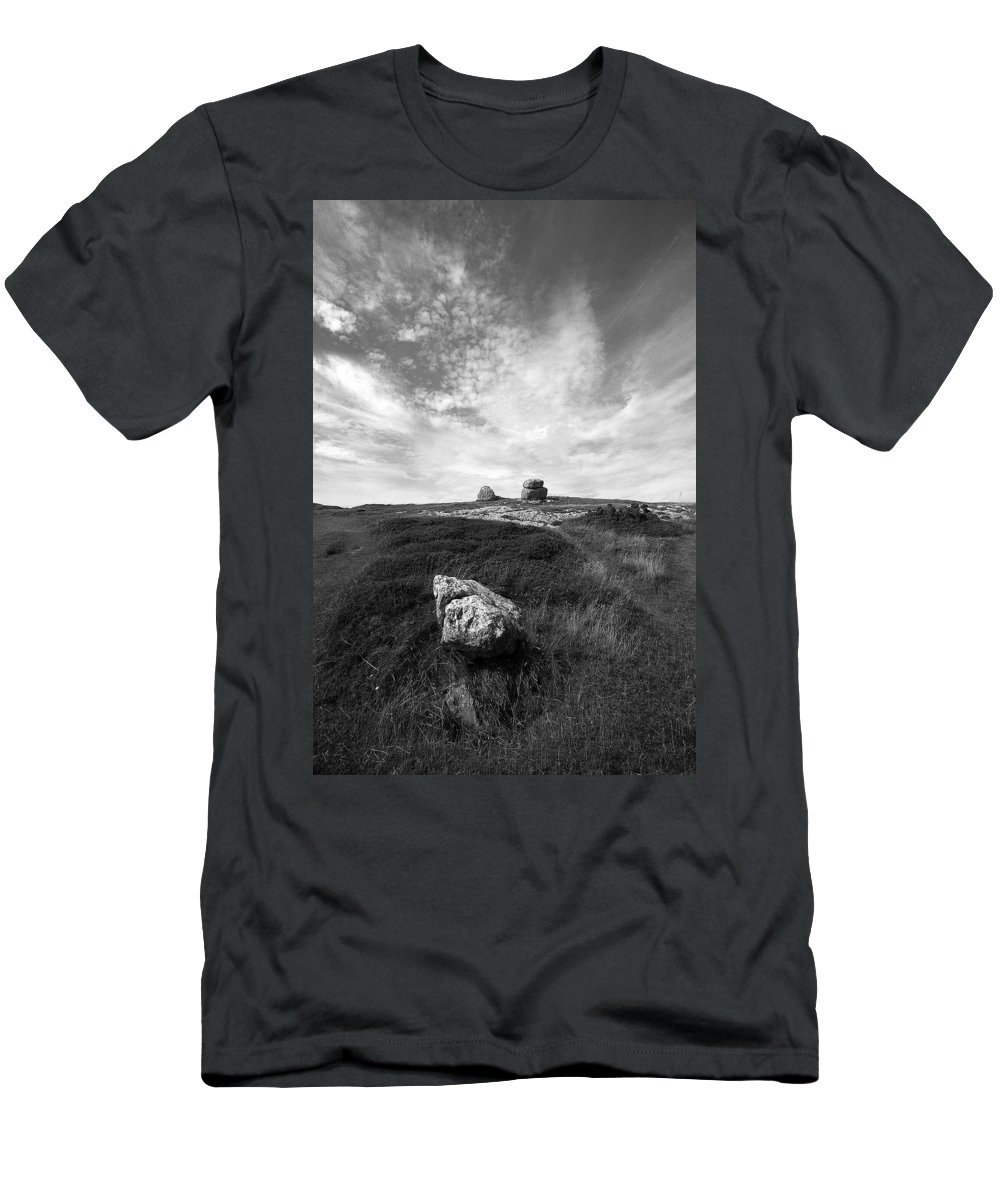 Great Orme Men's T-Shirt (Athletic Fit) featuring the photograph Orme Rocks by Bob Kemp