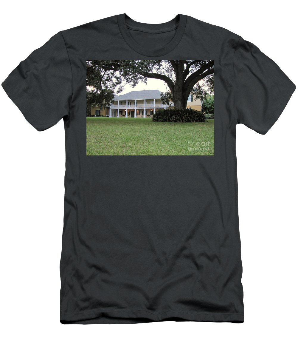 Plantation Homes Men's T-Shirt (Athletic Fit) featuring the photograph Ormond Plantation by Michelle Powell