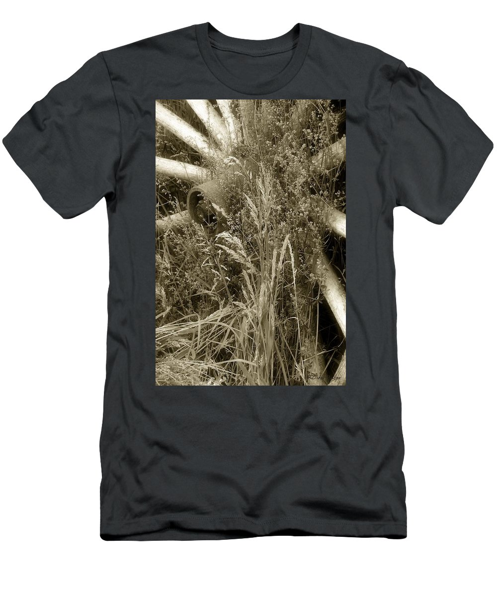 Abandoned Men's T-Shirt (Athletic Fit) featuring the photograph Ornament For A Wild Garden by RC DeWinter