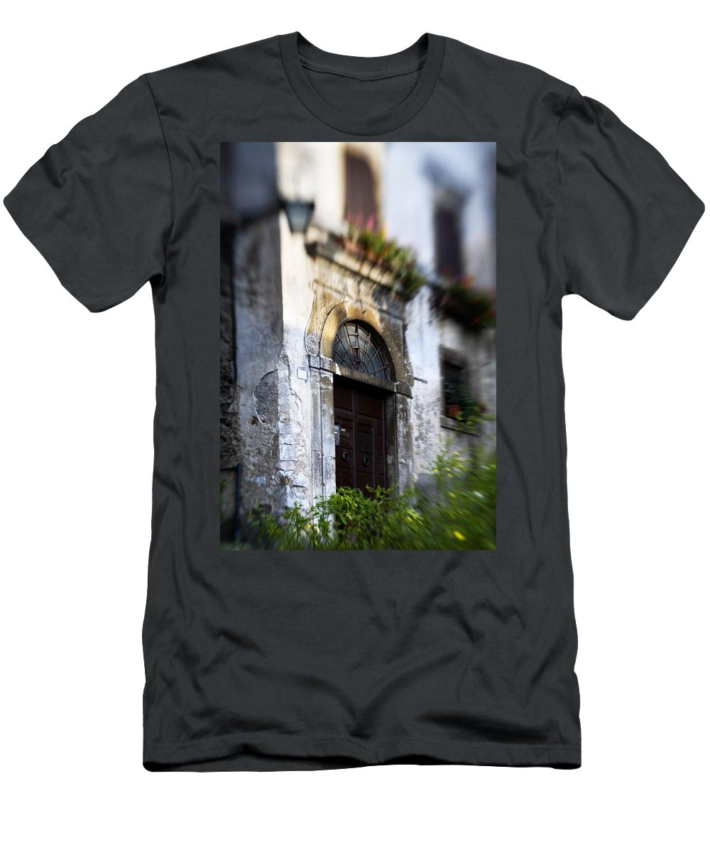 Entrance Men's T-Shirt (Athletic Fit) featuring the photograph Ornate Italian Doorway by Marilyn Hunt