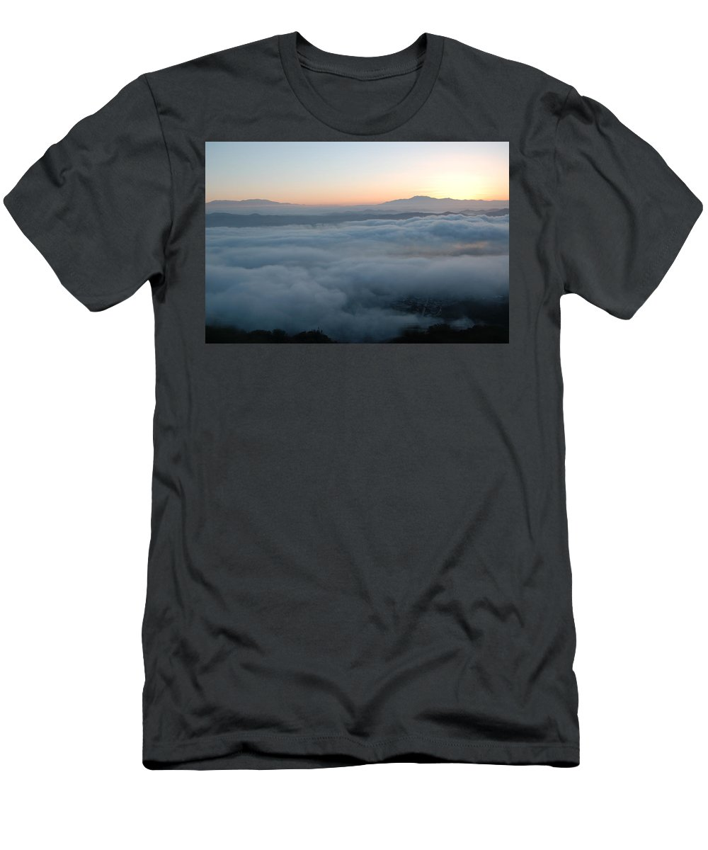 Ortega Highway Men's T-Shirt (Athletic Fit) featuring the photograph Ortega Sunrise by Christine Owens