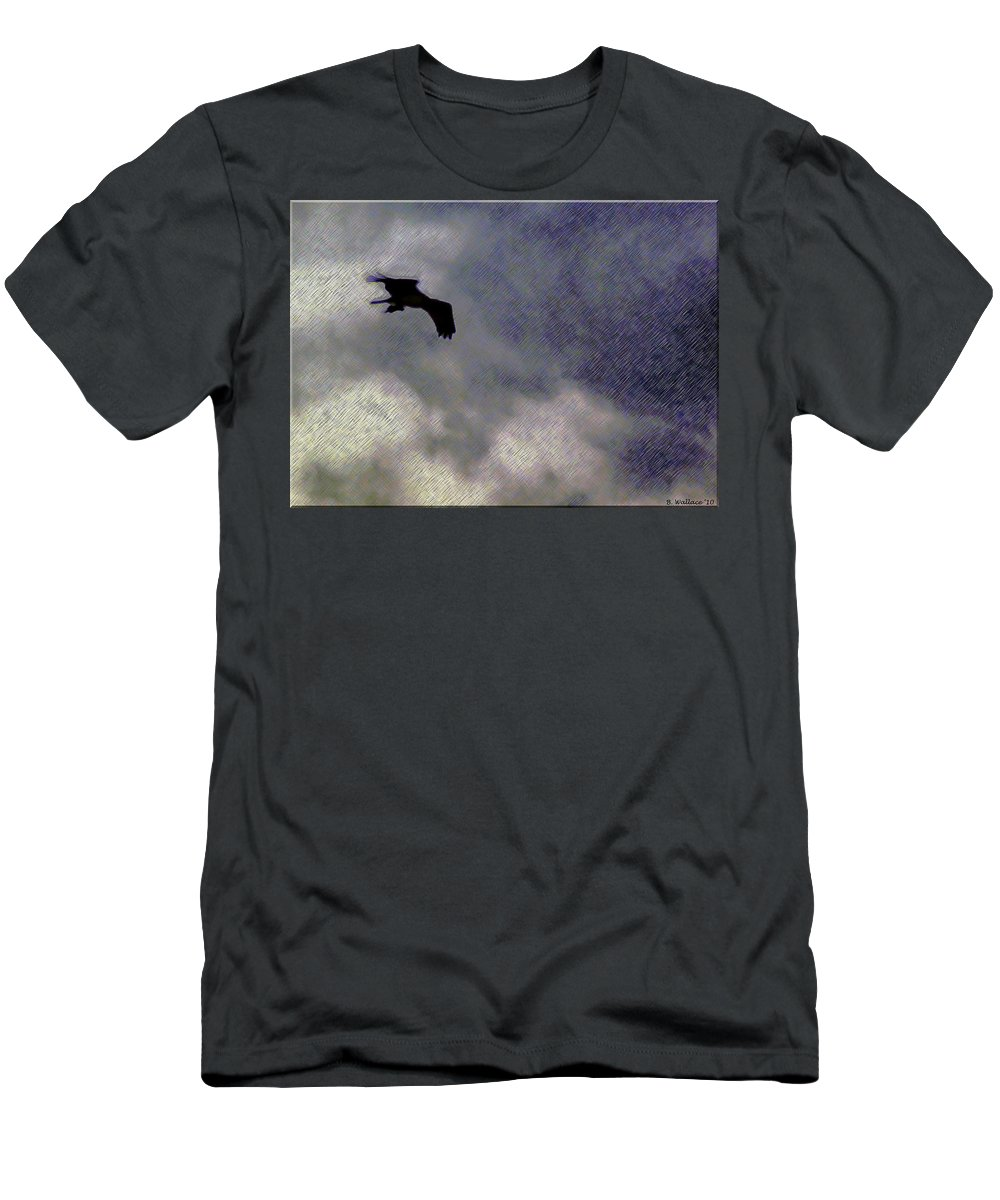 2d Men's T-Shirt (Athletic Fit) featuring the photograph Osprey Silhouette by Brian Wallace