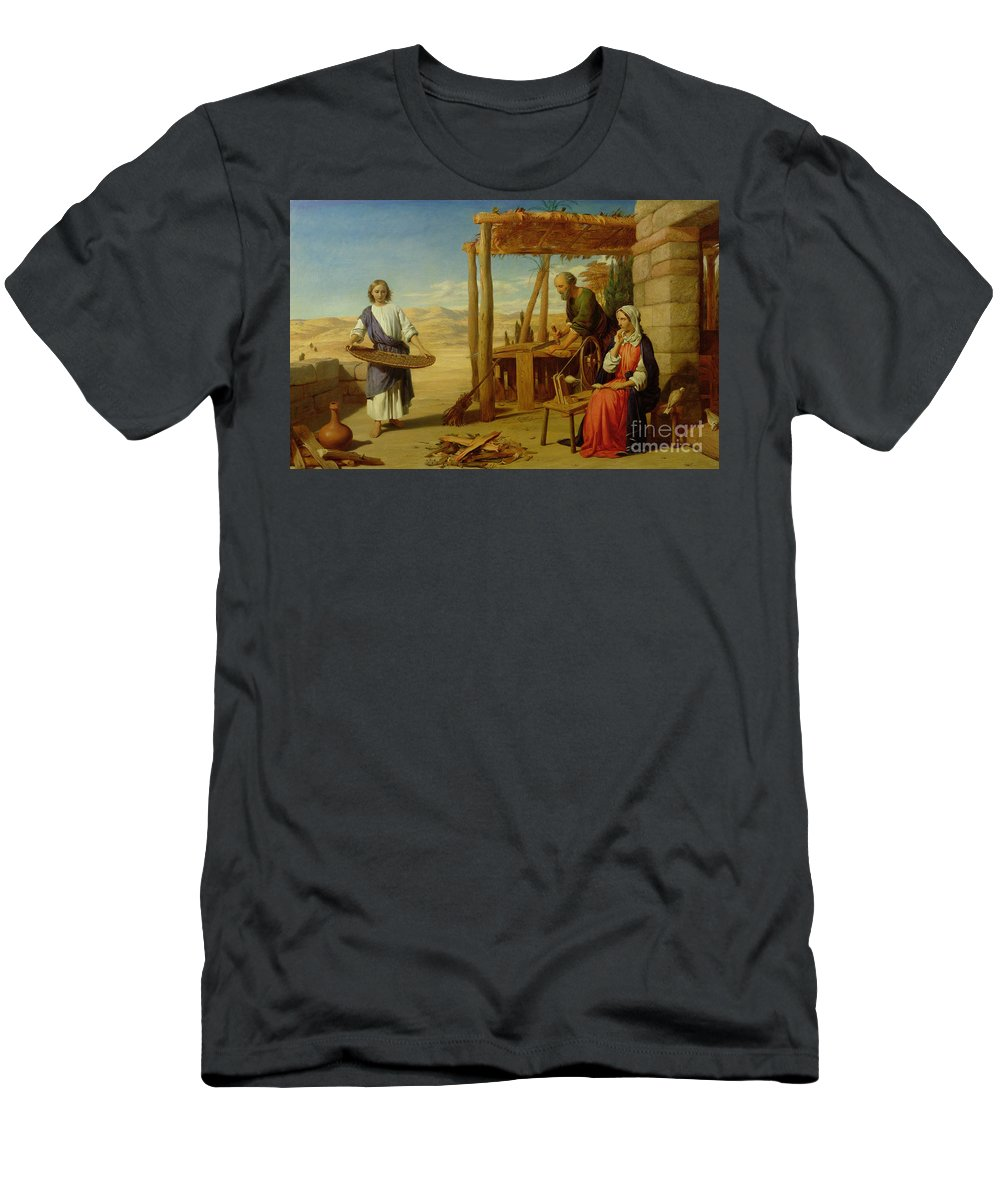 Pre-raphaelite T-Shirt featuring the painting Our Saviour Subject To His Parents At Nazareth by John Rogers Herbert