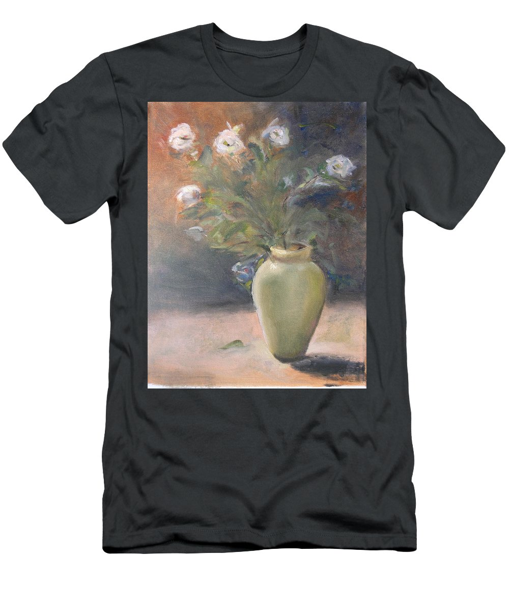 Flower Men's T-Shirt (Athletic Fit) featuring the painting Out Of The Garden by Patricia Caldwell