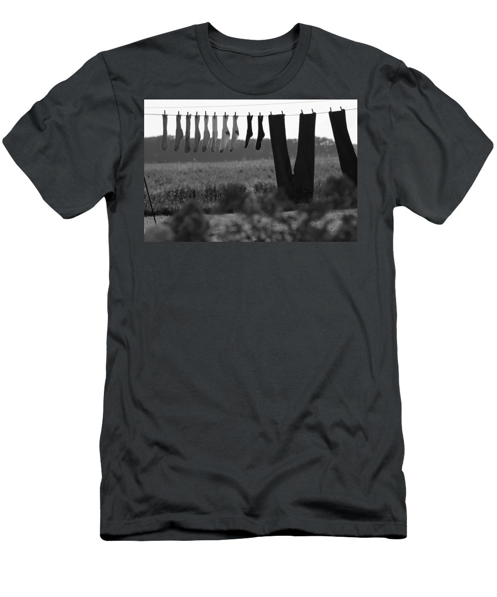Laundry Men's T-Shirt (Athletic Fit) featuring the photograph Out To Dry by Lauri Novak