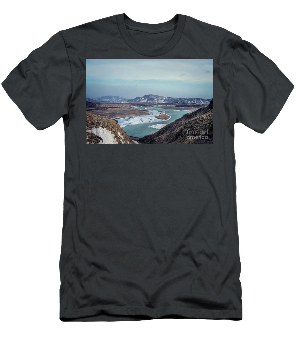 Kremsdorf Men's T-Shirt (Athletic Fit) featuring the photograph Outlands by Evelina Kremsdorf