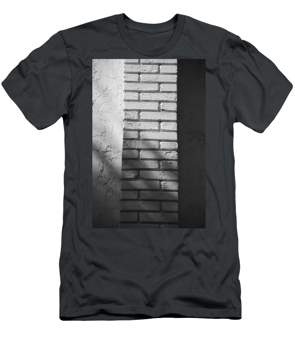 Black And White Men's T-Shirt (Athletic Fit) featuring the photograph Outside The Wall by Rob Hans