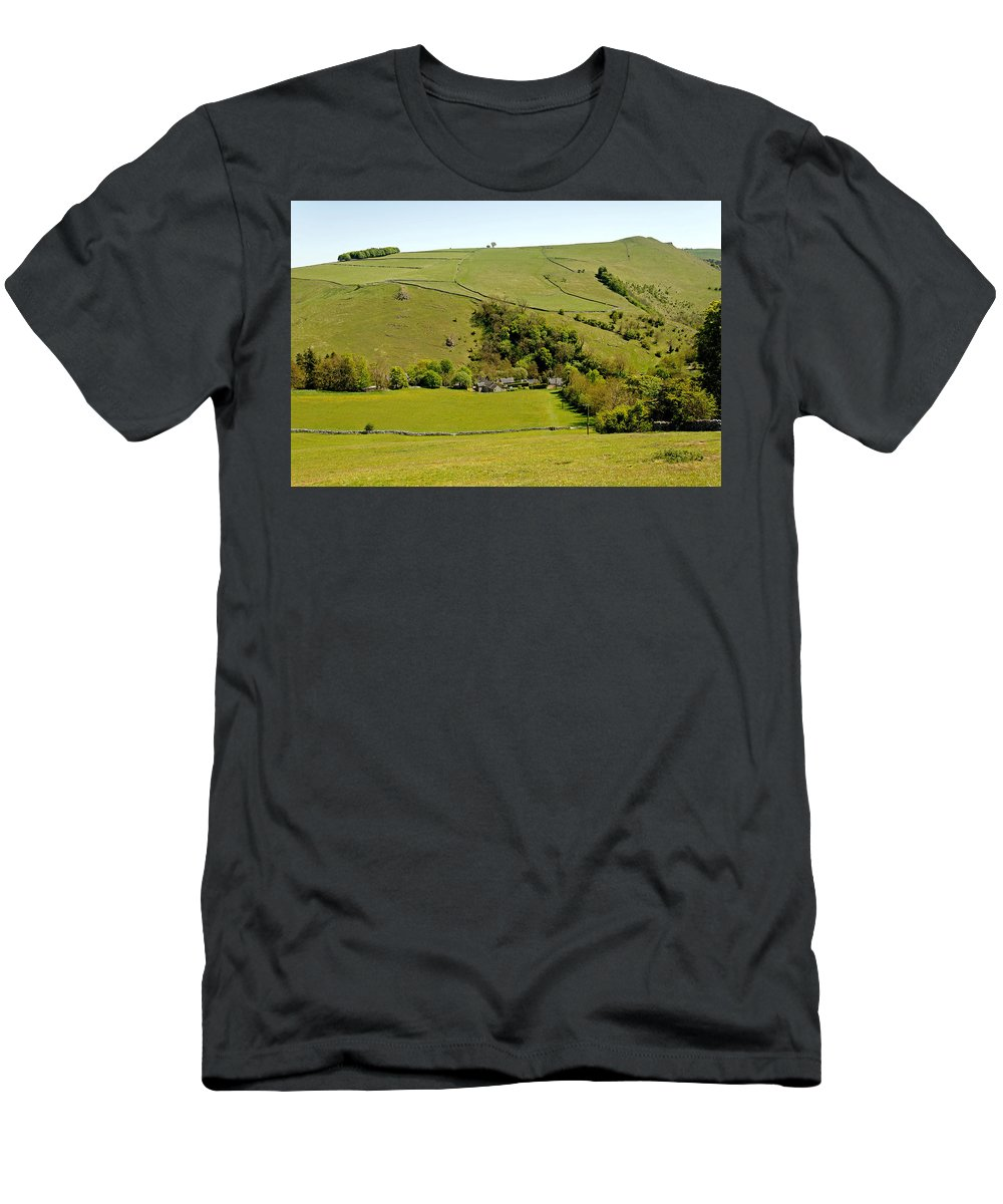 Milldale Men's T-Shirt (Athletic Fit) featuring the photograph Overlooking Milldale by Rod Johnson