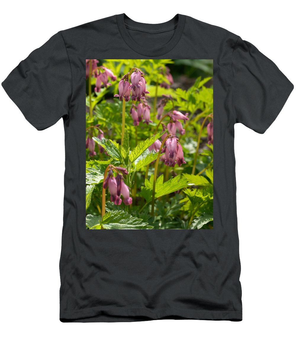 Lehtokukka Men's T-Shirt (Athletic Fit) featuring the photograph Pacific Bleeding Heart 2 by Jouko Lehto