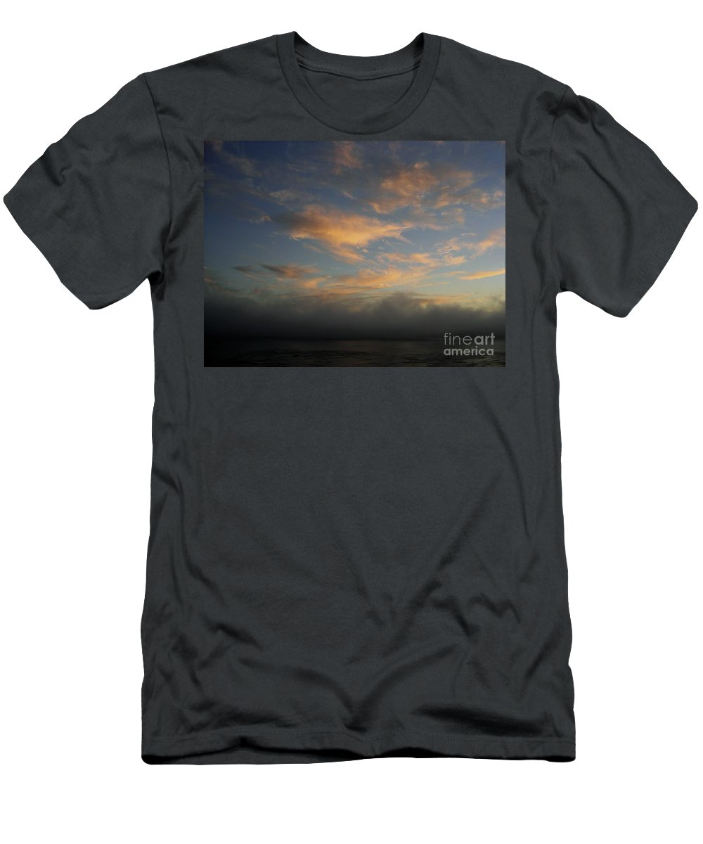 Ocean Men's T-Shirt (Athletic Fit) featuring the photograph Pacific Grove Sunrise by Mary Rogers