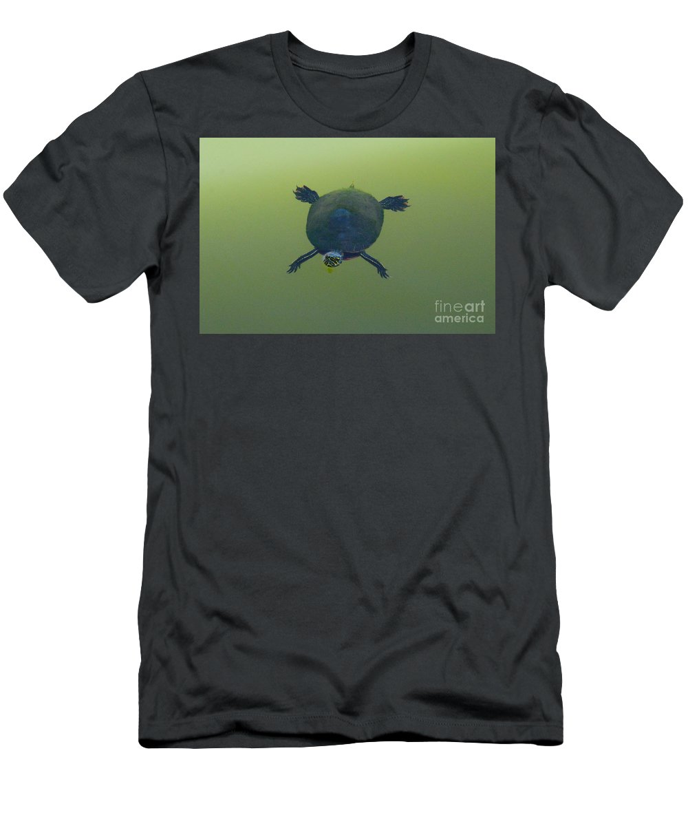 Turtle Men's T-Shirt (Athletic Fit) featuring the photograph Painted Turtle by Merrimon Crawford