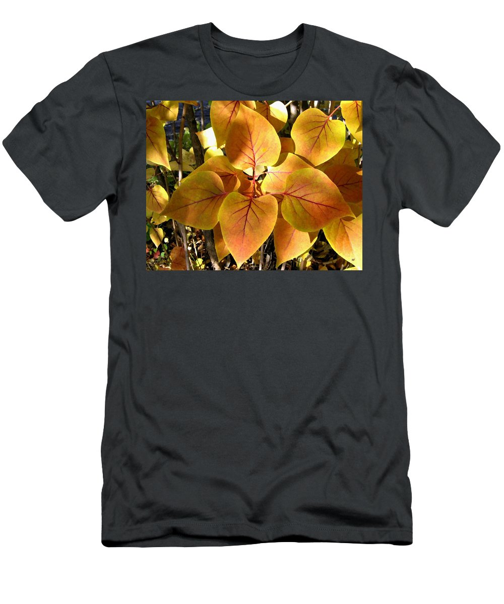 Autumn Men's T-Shirt (Athletic Fit) featuring the digital art Painted Autumn Lilac by Will Borden