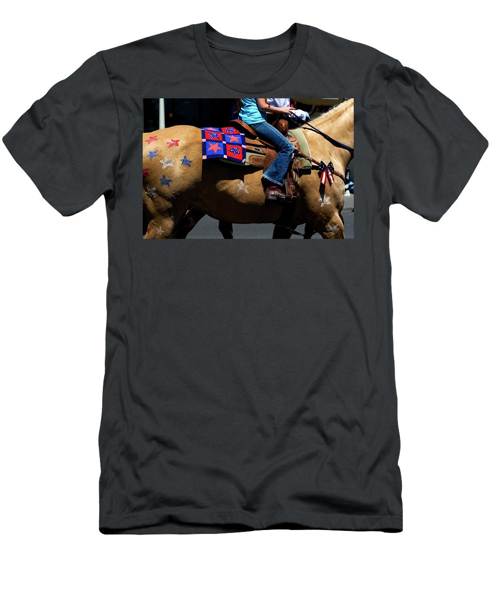 Pony Men's T-Shirt (Athletic Fit) featuring the photograph Painted Pony by Lorraine Devon Wilke