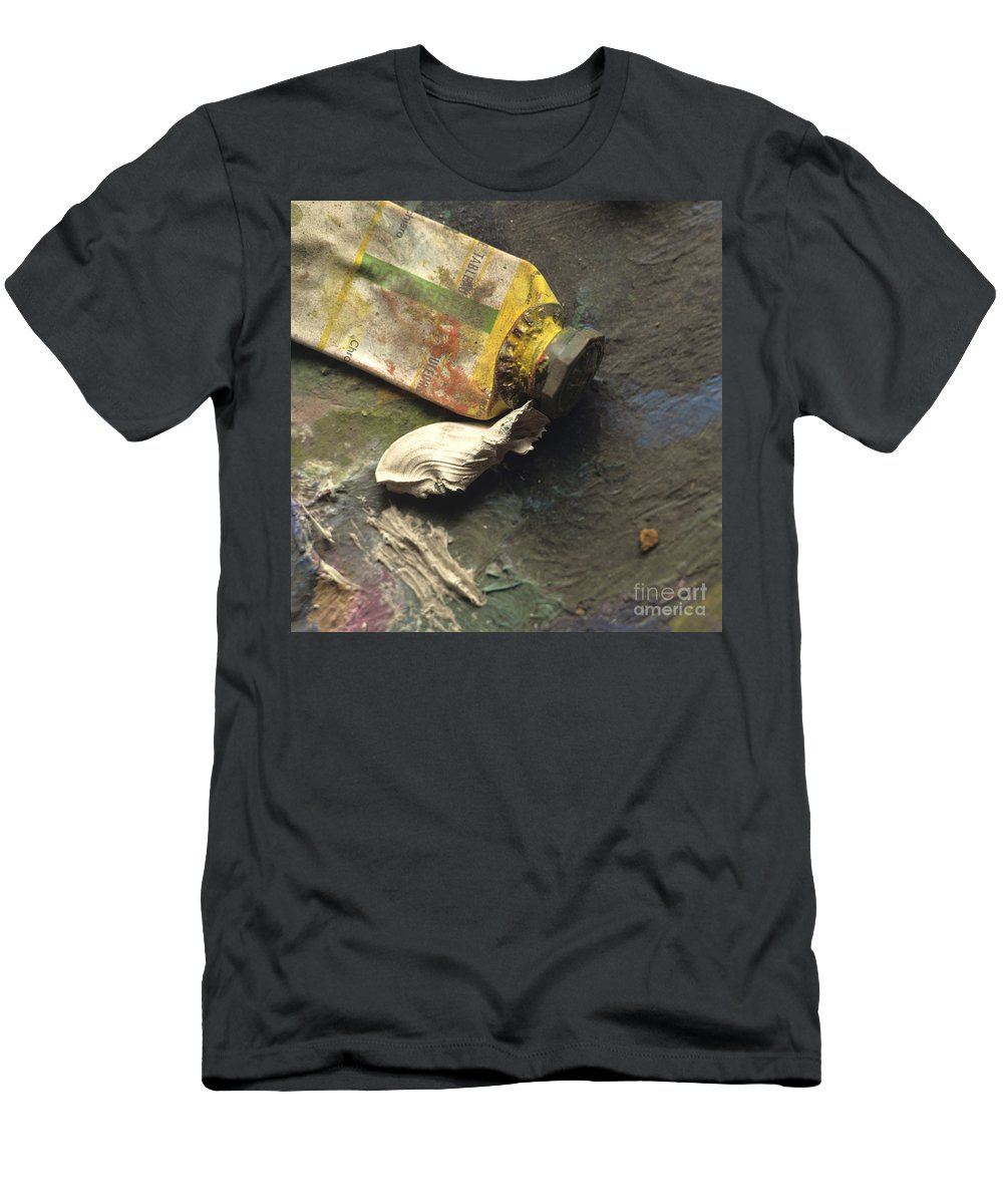 Paints Men's T-Shirt (Athletic Fit) featuring the photograph Painting Tub by Bernard Jaubert