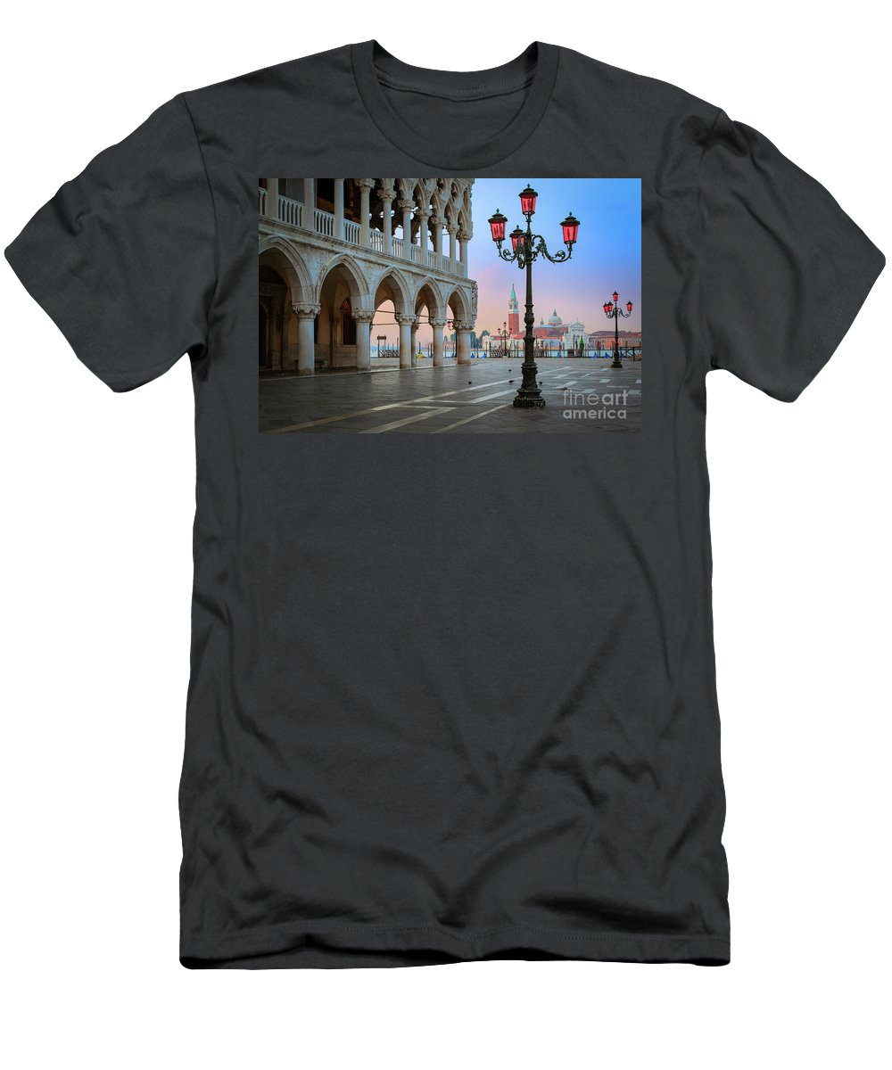 Doge's Palace Men's T-Shirt (Athletic Fit) featuring the photograph Palazzo Ducale by Inge Johnsson