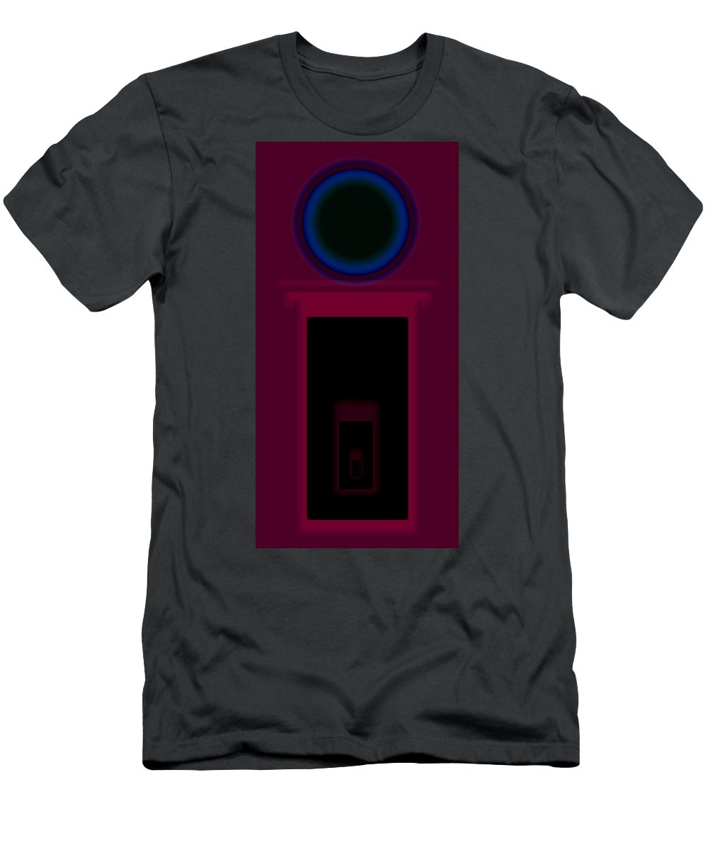 Palladian Men's T-Shirt (Athletic Fit) featuring the painting Palladian Magenta by Charles Stuart