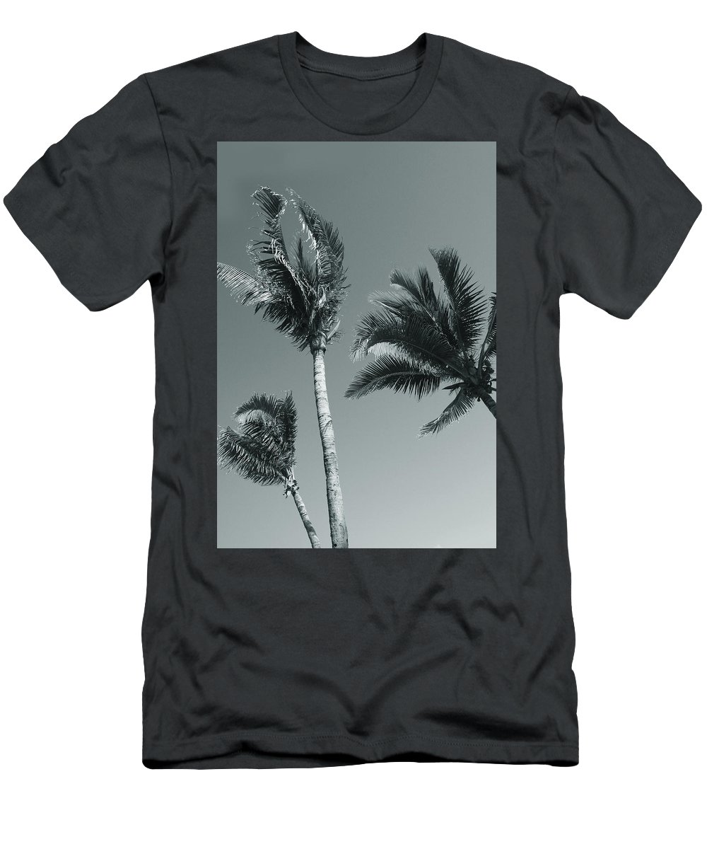 Palm Trees Men's T-Shirt (Athletic Fit) featuring the photograph Palm Trees by Larisa Siverina