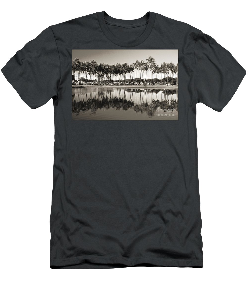 Afternoon Men's T-Shirt (Athletic Fit) featuring the photograph Palm Trees by Mary Van de Ven - Printscapes