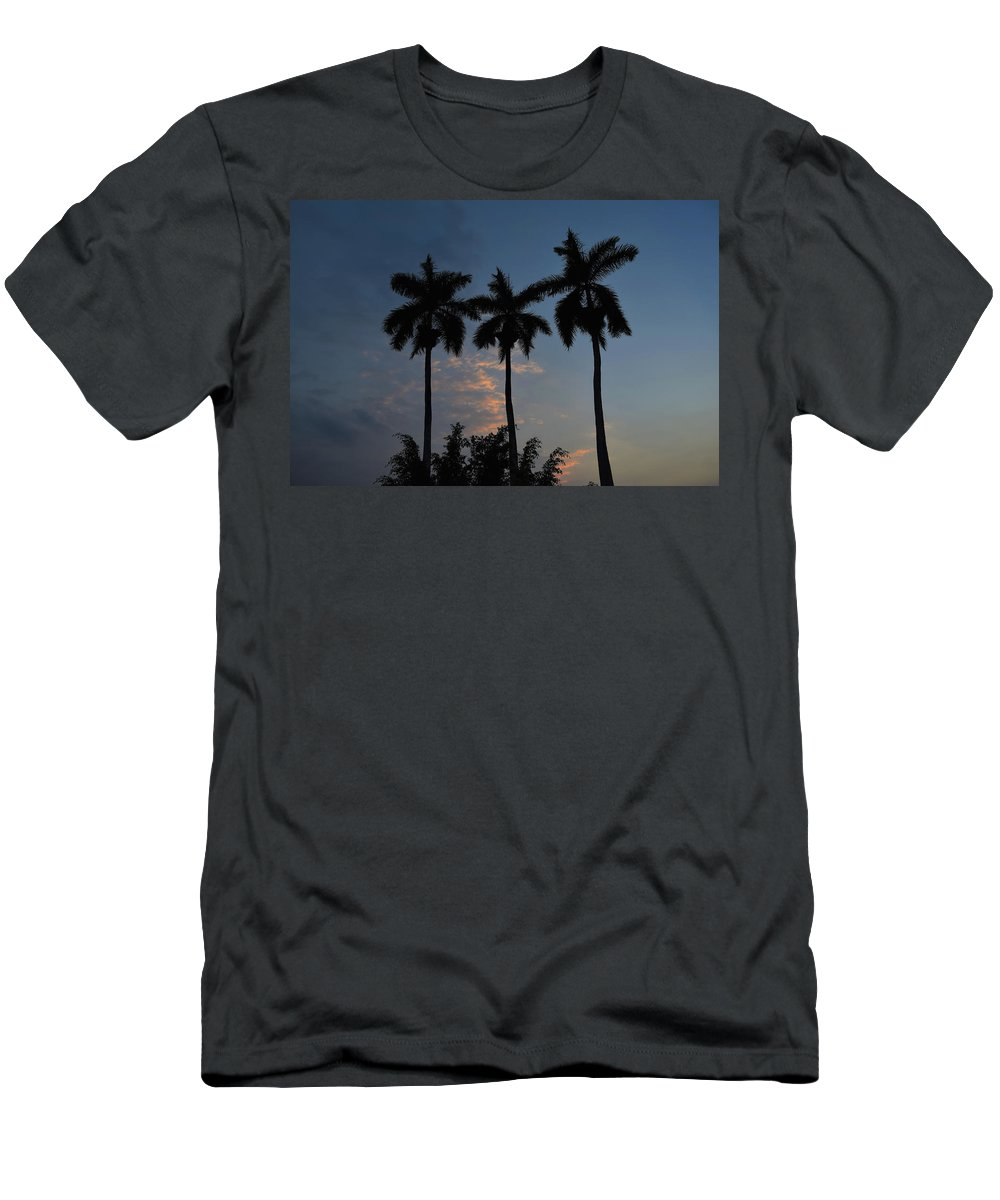 Palmeras Men's T-Shirt (Athletic Fit) featuring the photograph Palmeras Ahuachapan by Totto Ponce