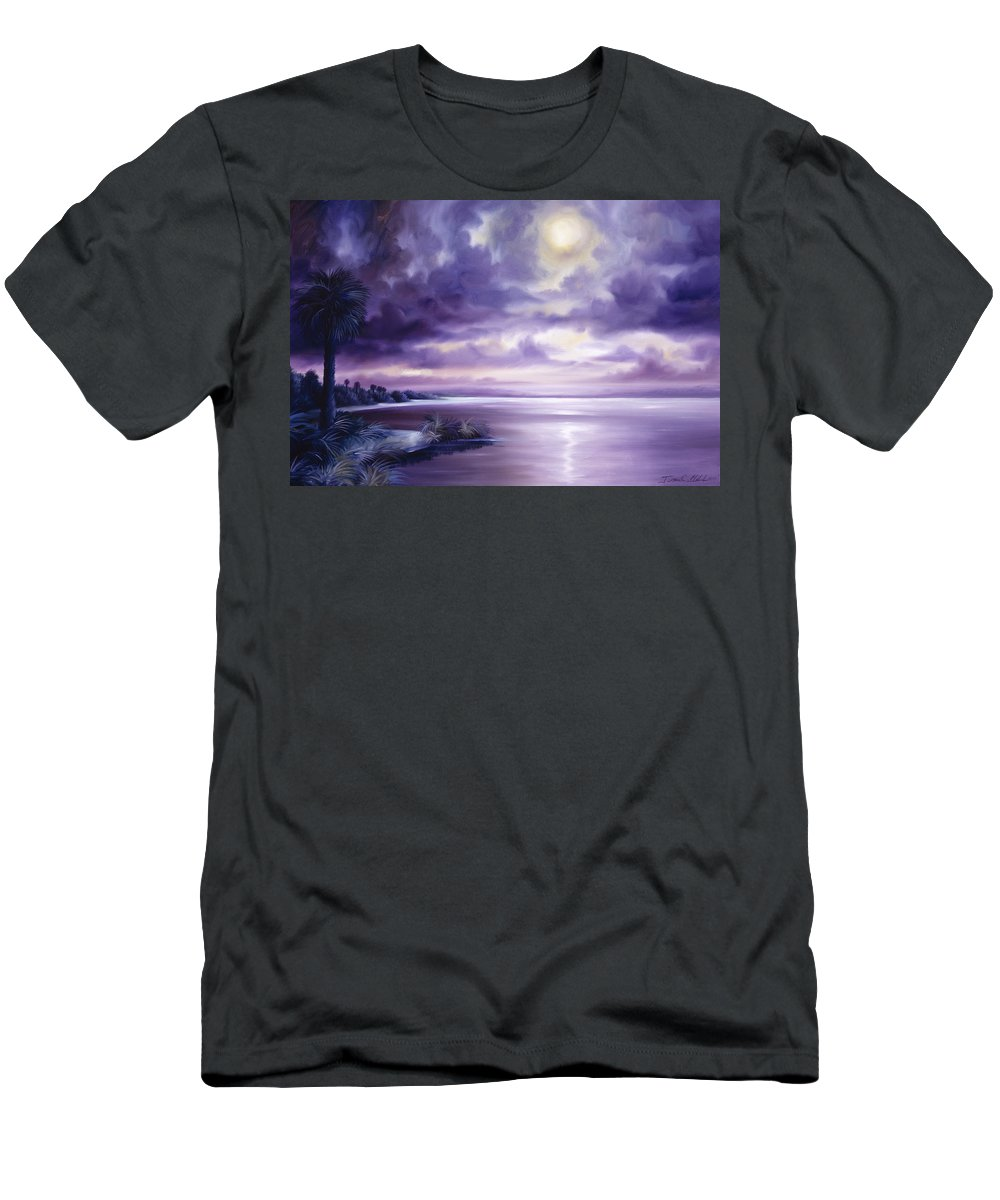 Moon Men's T-Shirt (Athletic Fit) featuring the painting Palmetto Moonscape by James Christopher Hill