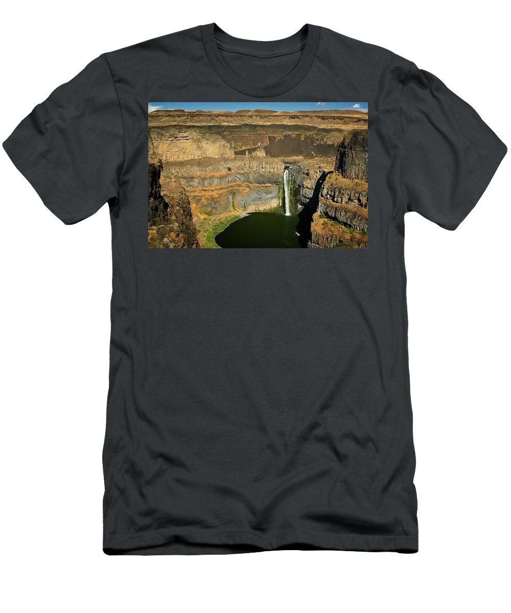 Palouse Falls Men's T-Shirt (Athletic Fit) featuring the photograph Palouse Falls by Albert Seger