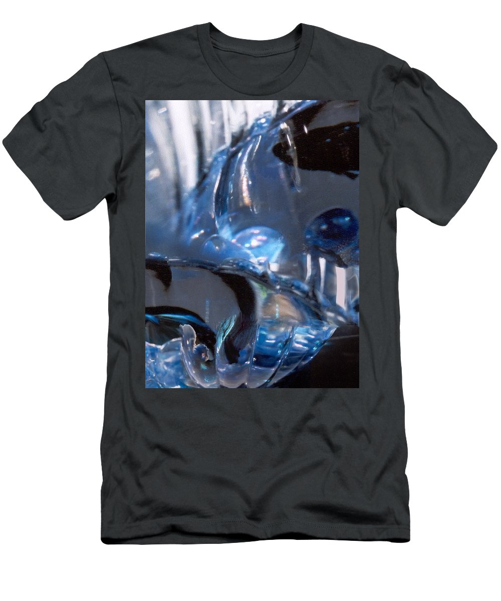 Glass Men's T-Shirt (Athletic Fit) featuring the photograph Panel 2 From Swirl by Steve Karol