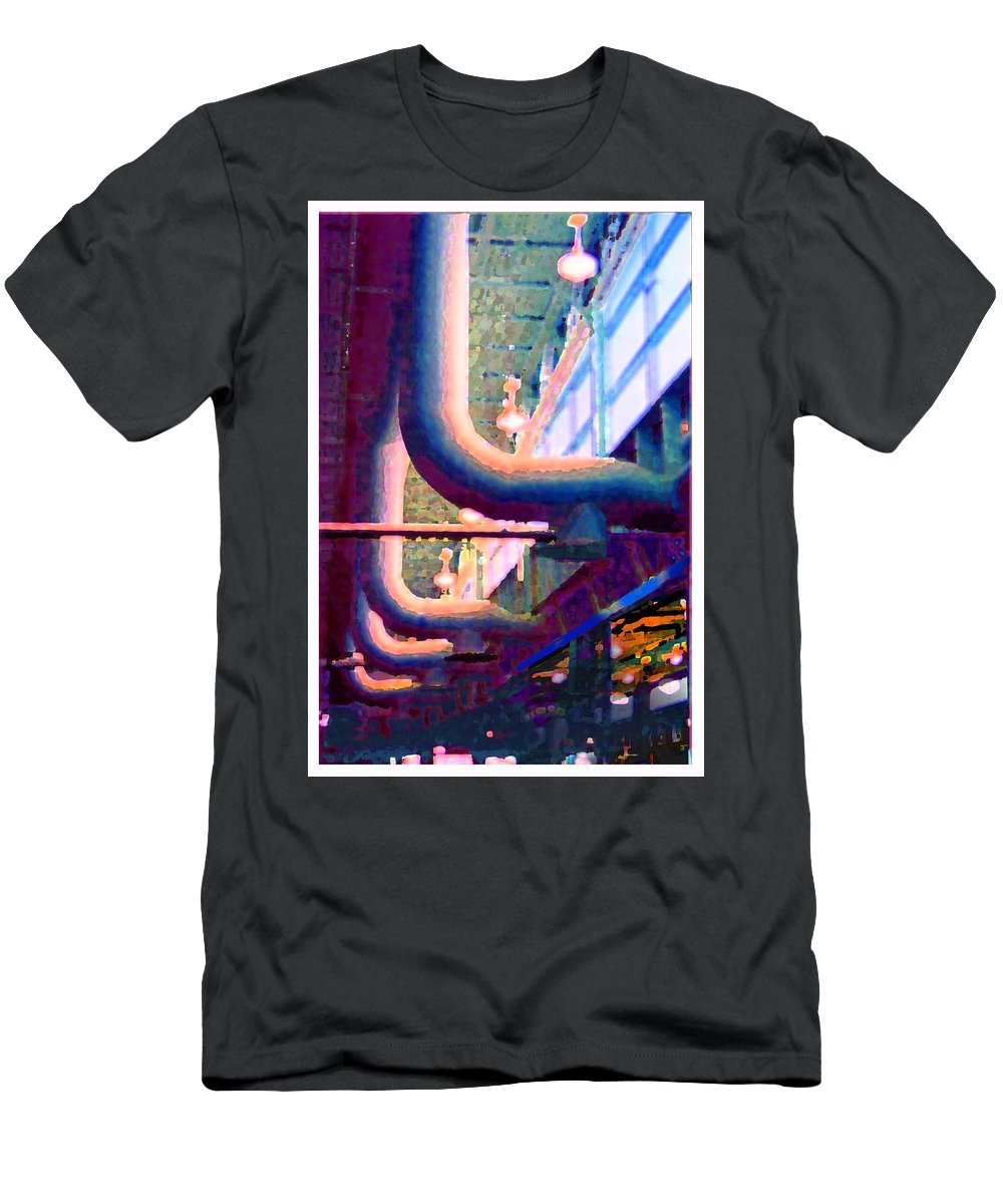 Abstract Men's T-Shirt (Athletic Fit) featuring the photograph panel one from Star Factory by Steve Karol