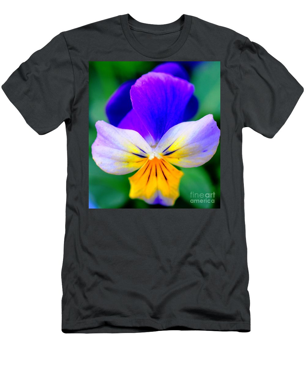 Pansy Men's T-Shirt (Athletic Fit) featuring the photograph Pansy by Kathleen Struckle