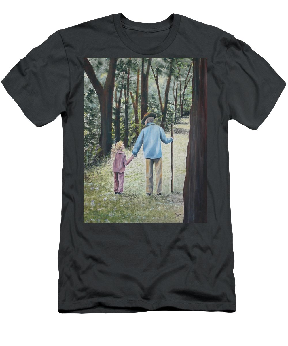 Grandfather Men's T-Shirt (Athletic Fit) featuring the painting Papa by Kris Crollard