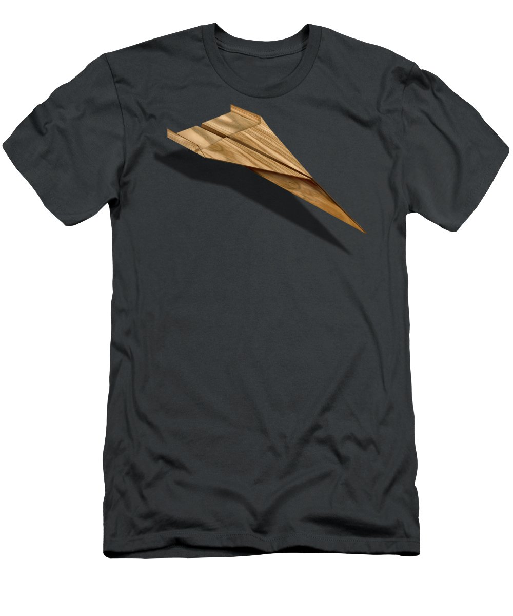 Aircraft T-Shirt featuring the photograph Paper Airplanes of Wood 3 by YoPedro