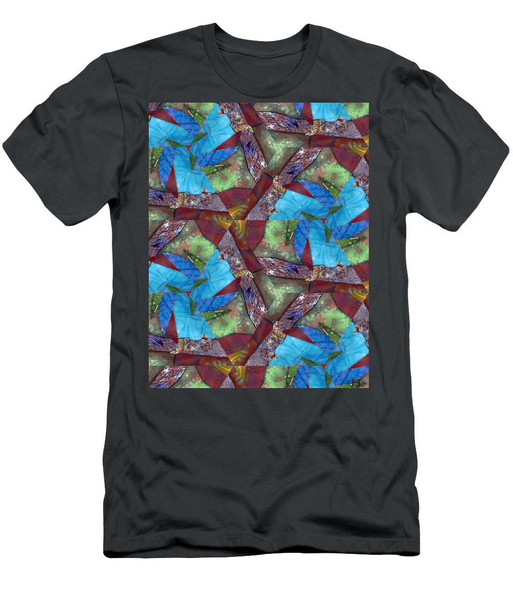 Acrylics Men's T-Shirt (Athletic Fit) featuring the mixed media Paradise by Maria Watt