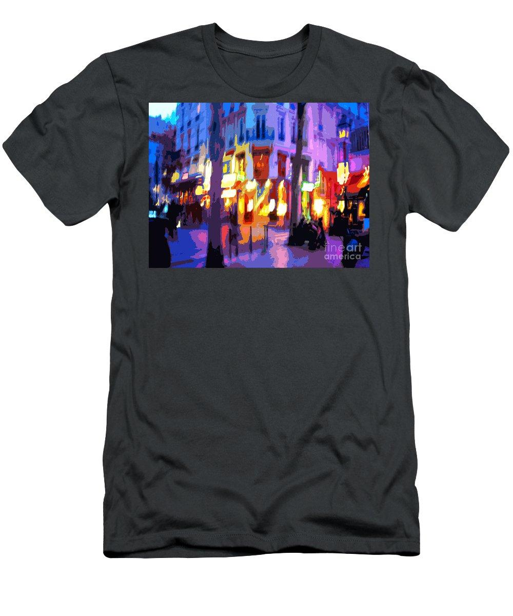 Paris Men's T-Shirt (Athletic Fit) featuring the photograph Paris Quartier Latin 02 by Yuriy Shevchuk