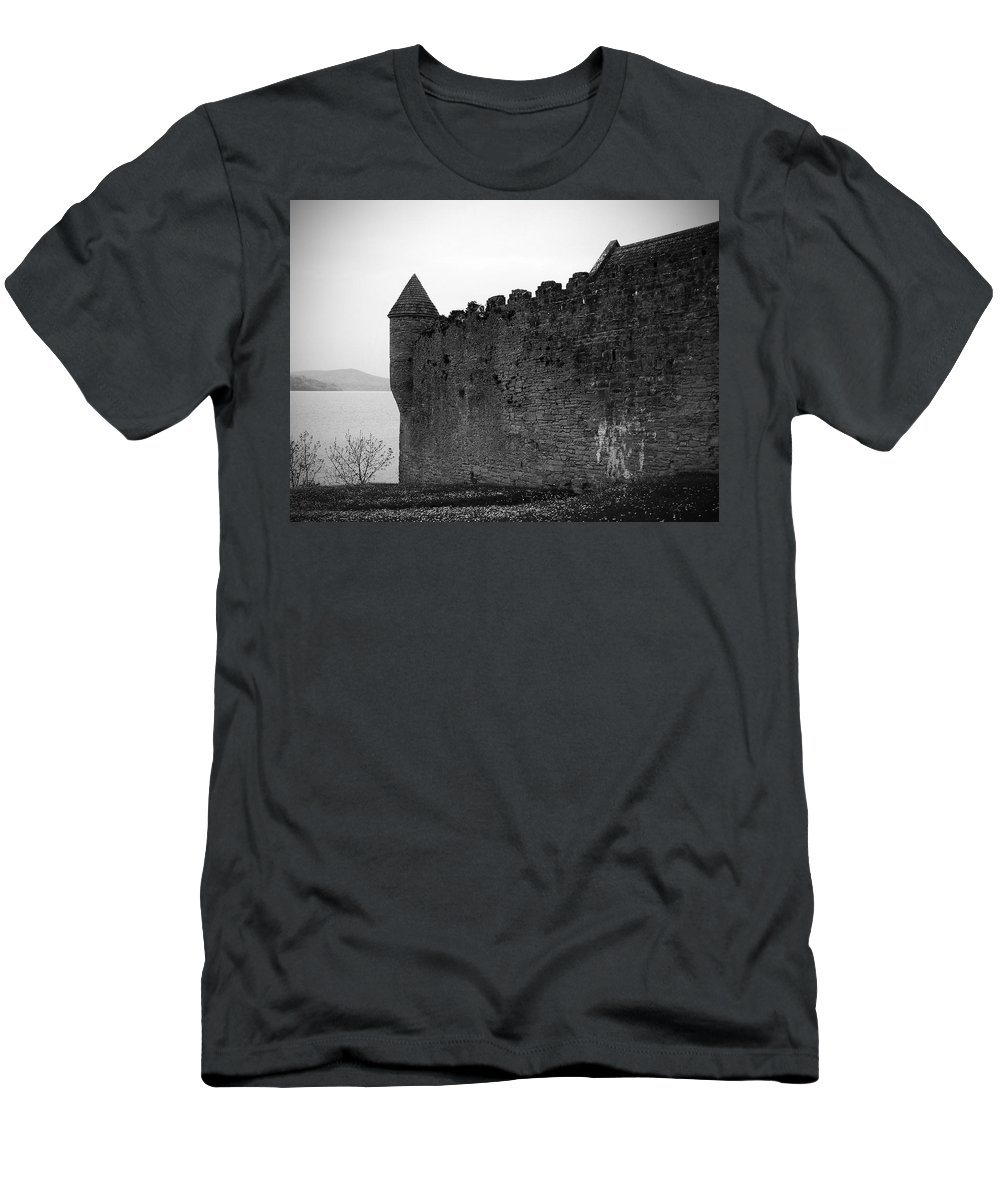 Ireland Men's T-Shirt (Athletic Fit) featuring the photograph Parkes Castle County Leitrim Ireland by Teresa Mucha