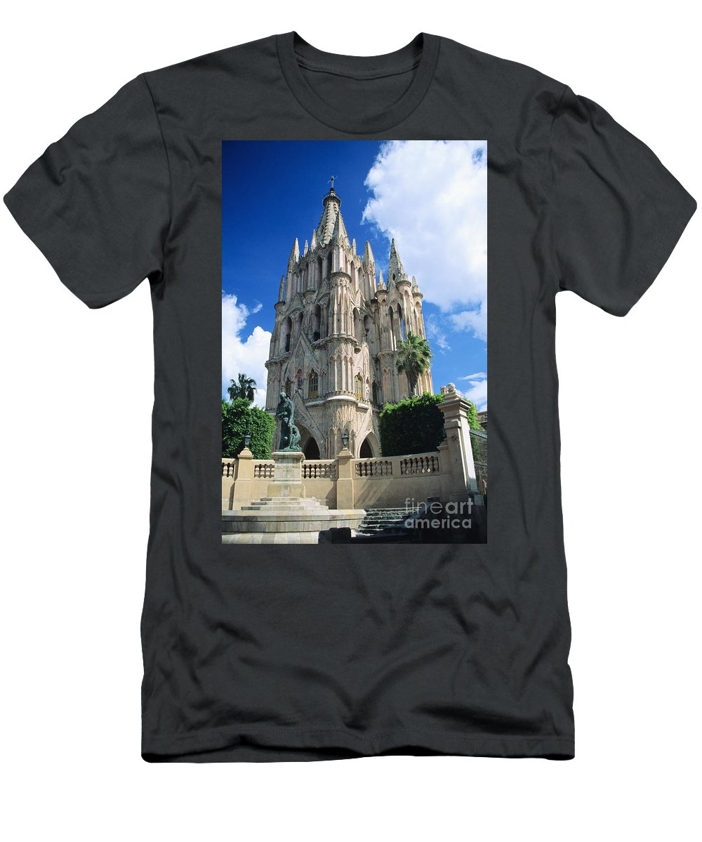 Architecture Men's T-Shirt (Athletic Fit) featuring the photograph Parroquia Church by Kyle Rothenborg - Printscapes