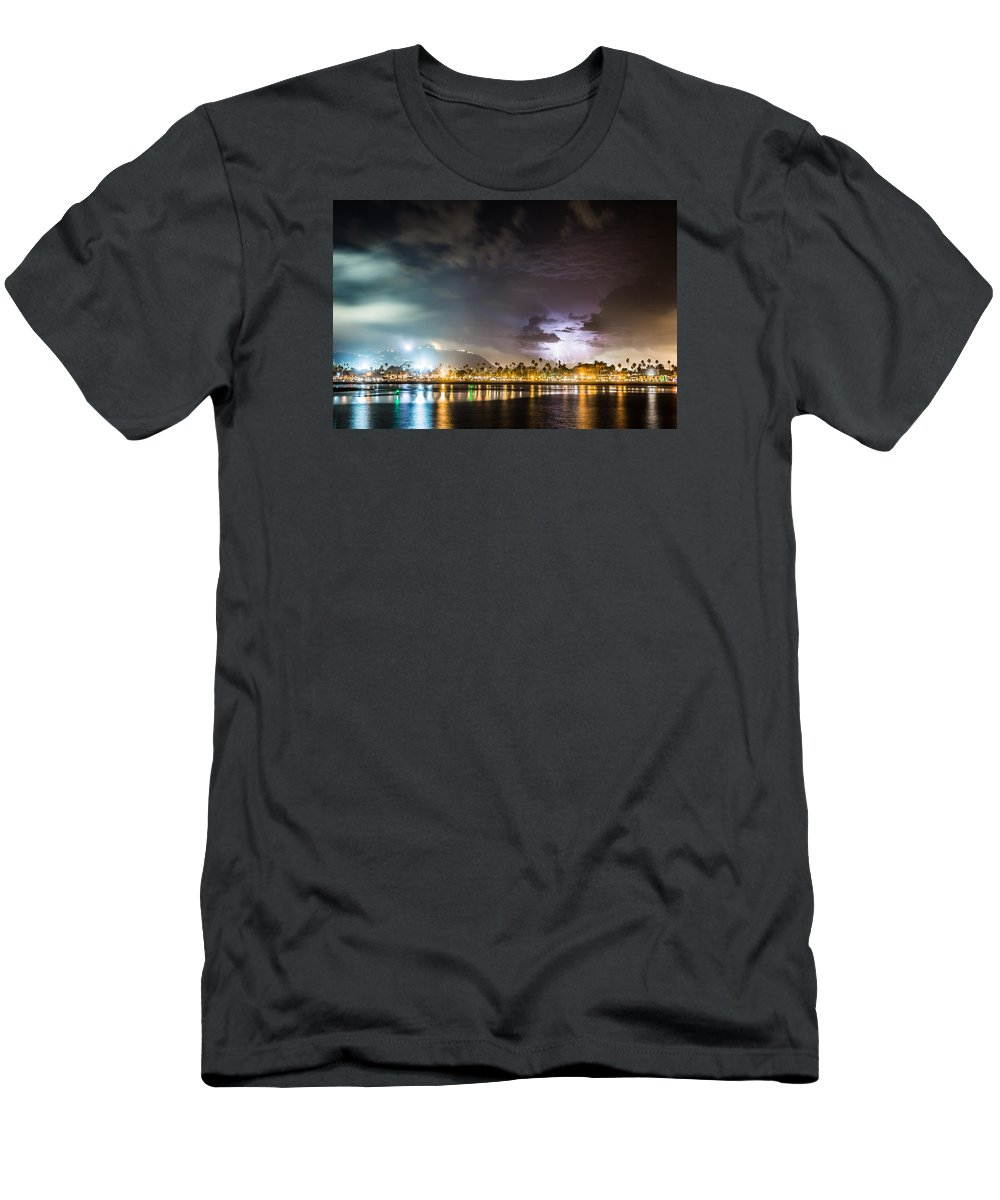 City Men's T-Shirt (Athletic Fit) featuring the photograph Party Town by Zach Brown